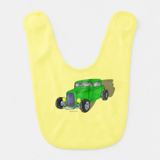 32 Ford HiBoy 3 Window Coupe – Green Baby Bibs