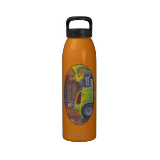 32 Ford three window coupe hot rod Reusable Water Bottle