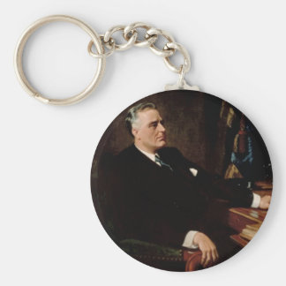 32 Franklin D. Roosevelt Basic Round Button Keychain