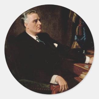 32 Franklin D. Roosevelt Classic Round Sticker