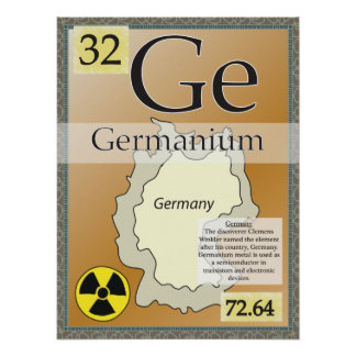 32. Germanium (Ge) Periodic Table of the Elements. Poster