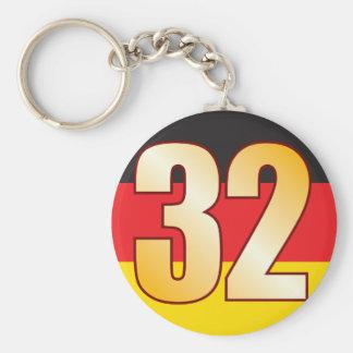 32 GERMANY Gold Keychain
