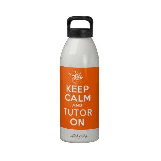 32 onzas guardan calma y al profesor particular en botella de agua reutilizable
