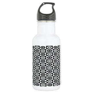 32 oz Funky Black & White Mod Retro Pattern 18oz Water Bottle