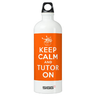 32 oz Keep Calm and Tutor On Aluminum Water Bottle