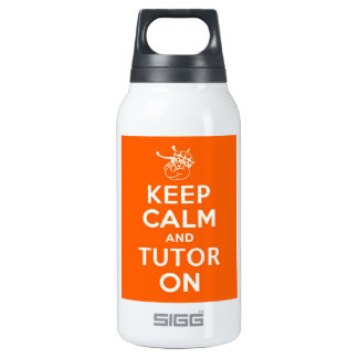 32 oz Keep Calm and Tutor On Insulated Water Bottle