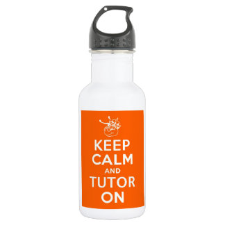 32 oz Keep Calm and Tutor On Stainless Steel Water Bottle
