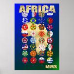 32 países de calificación para Suráfrica 2010 MMX Posters