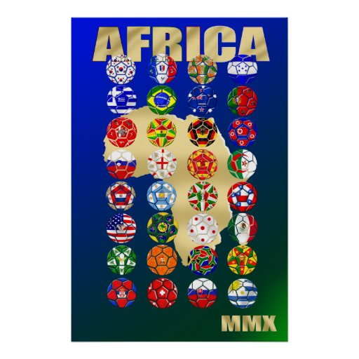 32 Qualifying countries for South Africa 2010 MMX Poster