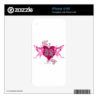 32 racing number butterflies iPhone 4S skins