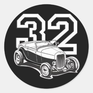 32 Roadster Classic Round Sticker