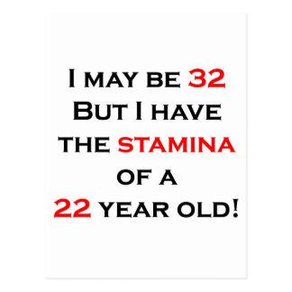 32 Stamina Postcard