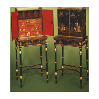 32:Two Chinoiserie cabinets, c.1770 Canvas Print