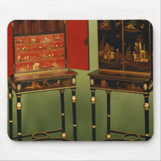 32:Two Chinoiserie cabinets, c.1770 Mouse Pad