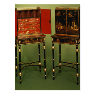 32:Two Chinoiserie cabinets, c.1770 Postcard