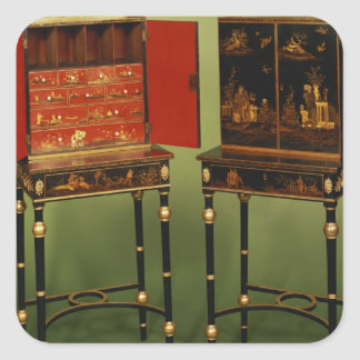 32:Two Chinoiserie cabinets, c.1770 Square Sticker