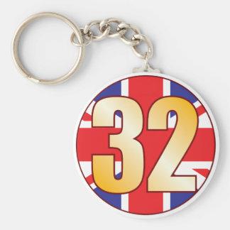 32 UK Gold Keychain