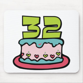 32 Year Old Birthday Cake Mouse Pad