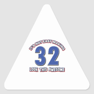 32 year old designs triangle sticker