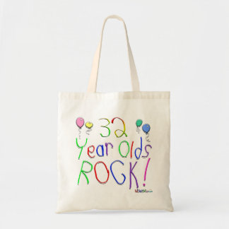 32 Year Olds Rock ! Canvas Bag