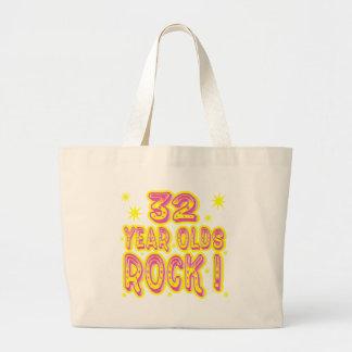 32 Year Olds Rock! (Pink) Tote Bag Jumbo Tote Bag