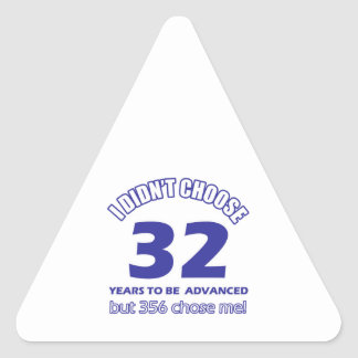 32  years advancement triangle sticker
