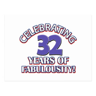 32 years of fabulousity postcard