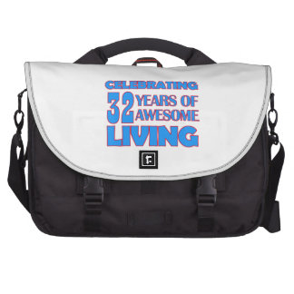 32 years old birthday designs bag for laptop