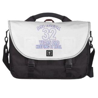 32 YEARS OLD BIRTHDAY DESIGNS LAPTOP BAGS
