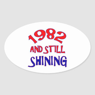 32 years Old birthday designs Oval Sticker