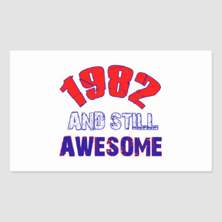 32 years Old birthday designs Rectangular Sticker