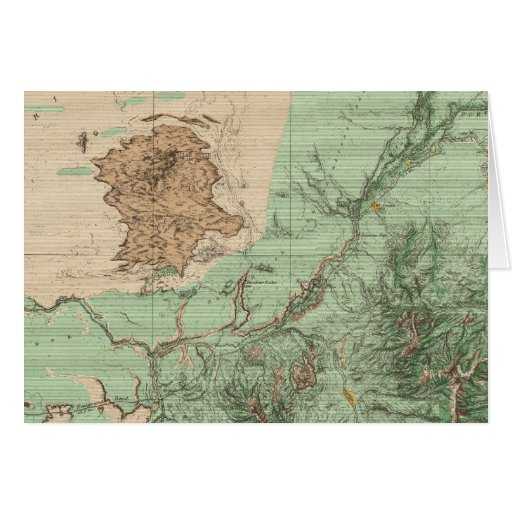 32C Land Classification Map Greeting Card