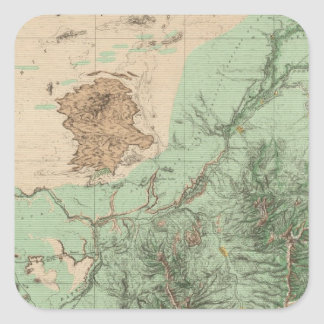 32C Land Classification Map Square Sticker