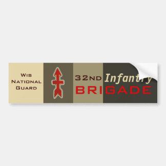 32do Brigada roja de la flecha de la infantería Pegatina Para Auto