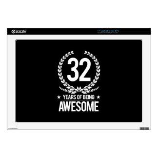 32do Cumpleaños (32 años de ser impresionantes) Calcomanía Para Portátil