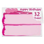 32do cumpleaños feliz tarjeta
