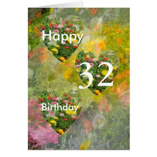 32do Cumpleaños Tarjeta De Felicitación