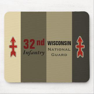 32do Guardia Nacional de Wisconsin de la infanterí Alfombrillas De Ratón