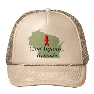 32do La infantería con Wisconsin traza Gorras De Camionero