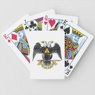 32do Negro escocés Eagle del rito del grado Barajas De Cartas