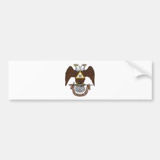 32do Rito escocés Brown Eagle del grado Pegatina Para Auto
