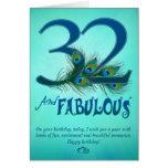 32do Tarjetas de la plantilla del cumpleaños