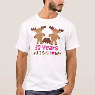 32nd Anniversary Gift For Her T-Shirt