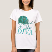 32nd Birthday Diva Shirts