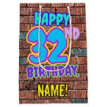 [ Thumbnail: 32nd Birthday: Fun, Urban Graffiti Inspired Look Gift Bag ]