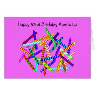 32nd Birthday Gifts Card