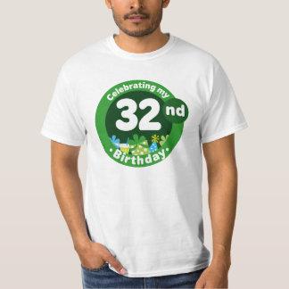 32nd Birthday Party Celebration Mens T-shirt