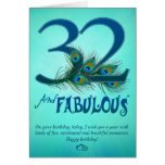 32nd Birthday template Cards