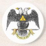 32nd Degree Scottish Rite Black Eagle Beverage Coaster
