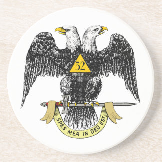 32nd Degree Scottish Rite Black Eagle Coaster